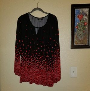 Womens heart blouse